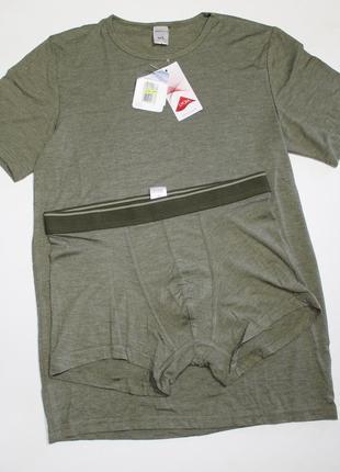 Комплект футболка и трусы боксеры вискоза размер м