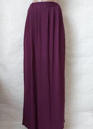 Фирменная atmosphere юбка в пол/длинная юбка со 100% вискозы цвета марсала, размер с-м