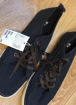Коттоновые фирменные кроссовки кеды мокасины