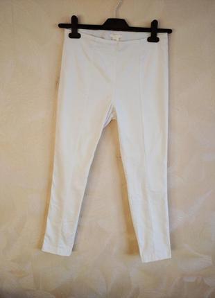 Фирменные летние белые коттоновые штаны, леггинсы, джеггинсы h&m