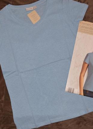 Стильная женская футболка с вырезом blue motion германия