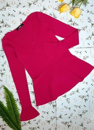 🎁1+1=3 нарядный розовый свитер с баской hallhuber, размер 44 - 46