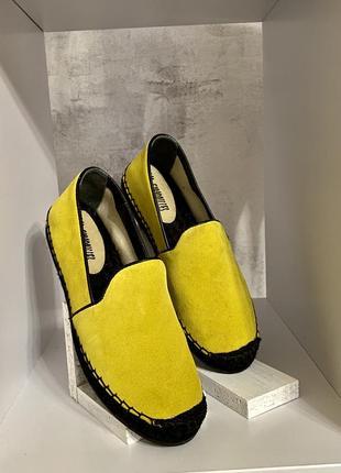 Эспадрильи желтые/ las espadrilles