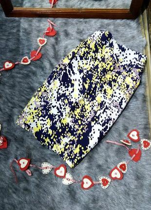 Sale юбка с принтом из смеси льна и вискозы