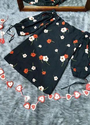 Sale блуза топ кофточкатна плечи f&f