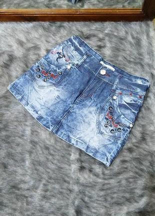 Sale джинсовая юбка варенка