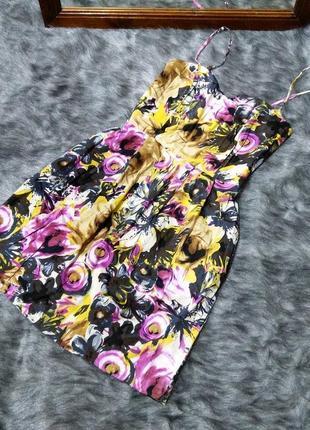 Sale платье на тонких бретелях из коттона vila clothes