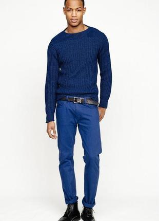 Яркие синие летние тонкие джинсы takko fashion1982 р.42-44 (36) мягкие, стрейч