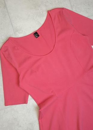 1+1=3 стильное яркое розовое трикотажное платье плаття h&m, размер3 фото