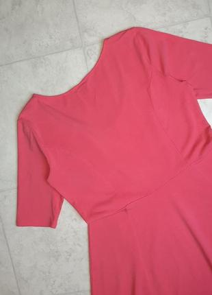 1+1=3 стильное яркое розовое трикотажное платье плаття h&m, размер4 фото