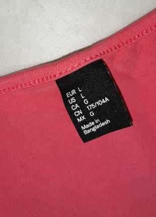 1+1=3 стильное яркое розовое трикотажное платье плаття h&m, размер10 фото