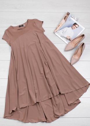Легкое платье-трапеция , можно для беременных, цвета беж и чёрное