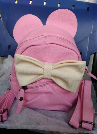 Рюкзак минни маус с ушками и бантом