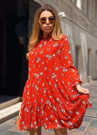 Шикарное нарядное коктейльное платье шифоновое