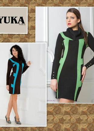 Платье трикотажное франция yuka paris р.т3 на л размер
