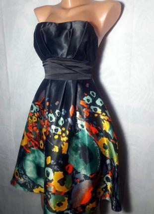 Роскошное, праздничное ( вечернее ) платье - сарафан с корсетом и бантом на спине