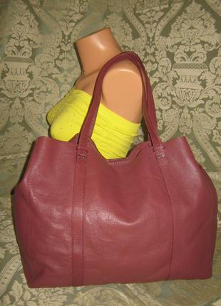 Linea weekend оригинал большая кожаная сумка шоппер 100% натуральная кожа