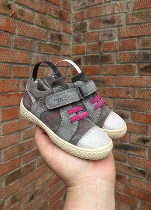 Замшевые кроссовки superfit размер 25 (15,5 см.)