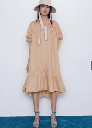 Новое платье миди оверсайз zara