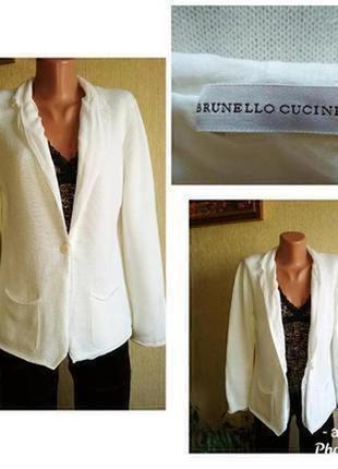 Brunello cucinelli люксовый двусторонний кардиган кофта пиджак,р.40-42