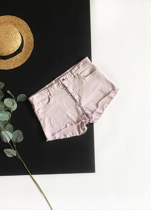 Короткие джинсовые шорты сиреневого цвета h&m р. м