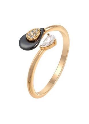 Кольцо с керамической вставкой