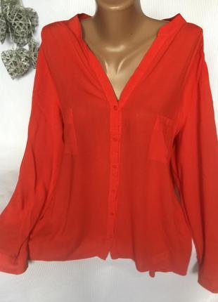 Яркая , воздушная рубашка , блуза