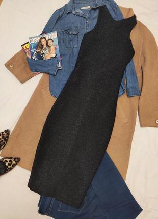 Pull&bear платье миди синее блестящее с открытой спиной вечернее новое