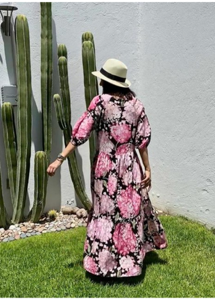 Платье в цветах гортензии h&m : коллекция 2020‼️p.m-l