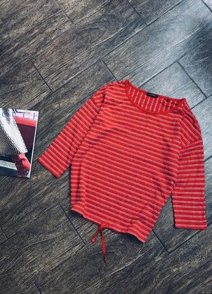 Очень стильная хлопковая блуза/реглан
