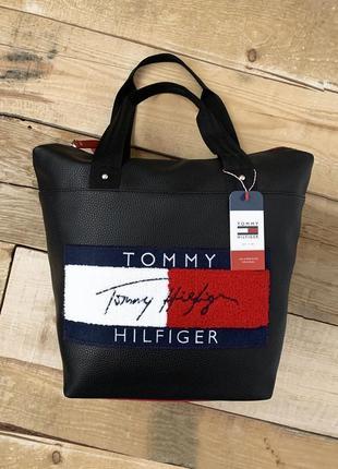 ⭐️ новая качественная сумка tommy pu кожа + наплечный ремень ⭐️ / кроссбоди / шопер