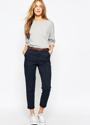 Идеальные чёрные женские брюки-чиносы b.you р. 46-48-50 (10) отлично тянутся