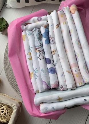 Набір муслінових пеленок для дівчинки 👧🏻🕊