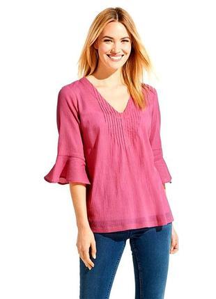 Шикарная , яркая , натуральная блуза - рубашка от esmara , германия ,38,44 евро