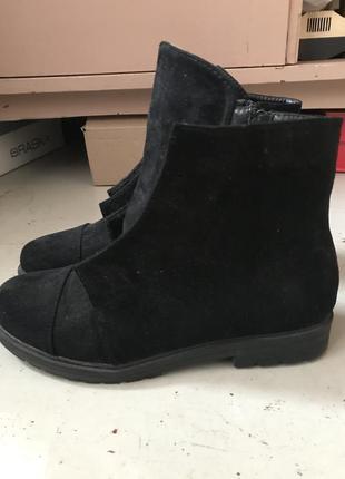 Ботинки из заменителя замши