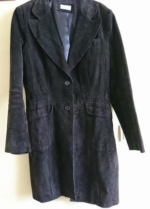 Пальто з натуральної замші, великого розміру 16 (44 )