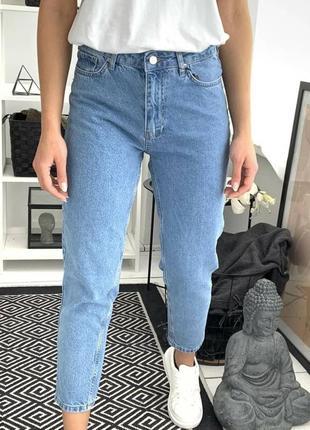 Мом джинсы женские  высокая посадка  турция