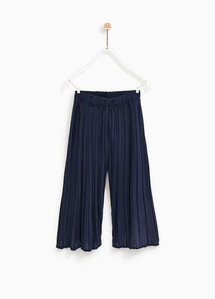 Zara плиссированые кюлоты брюки