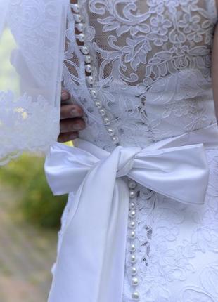 Свадебное белое платье2 фото