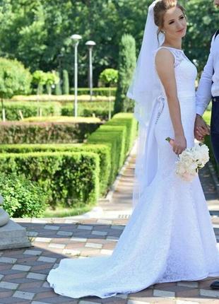 Свадебное белое платье3 фото
