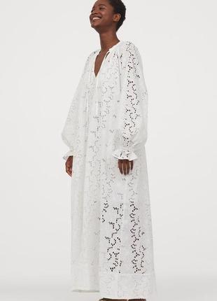 Платье с английским broderie h&m conscious,p.m-l, коллекция 2020‼️