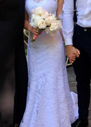 Свадебное белое платье4 фото