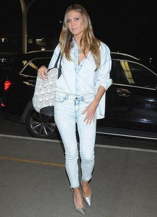 Дизайнерская джинсовая рубашка , esmara от heidi clum , германия3 фото
