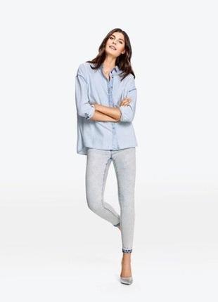 Дизайнерская джинсовая рубашка , esmara от heidi clum , германия4 фото
