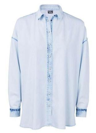 Дизайнерская джинсовая рубашка , esmara от heidi clum , германия6 фото