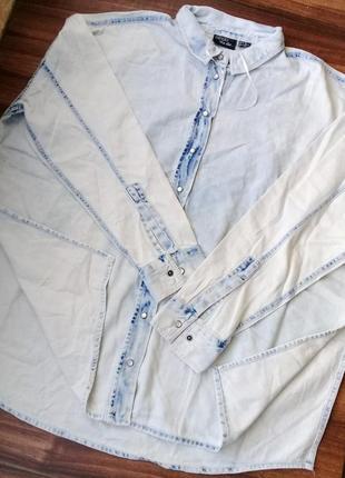 Дизайнерская джинсовая рубашка , esmara от heidi clum , германия7 фото