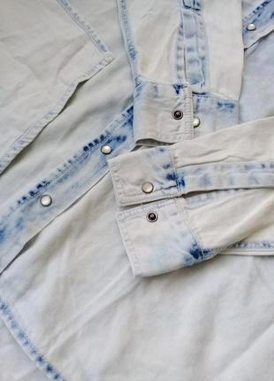 Дизайнерская джинсовая рубашка , esmara от heidi clum , германия8 фото