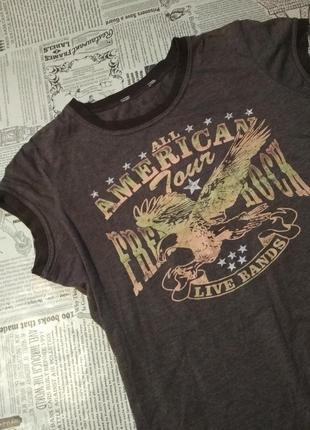 Футболка с надписью, футболка в винтажном стиле, орел, америка
