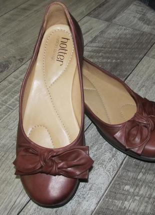 Hotter кожаные туфли р. 37 стелька 24 см