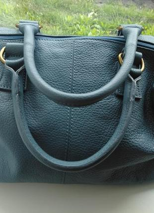 Pelletteria veneta большая  вместительная  кожаная сумка небесно голубого цвета кожа